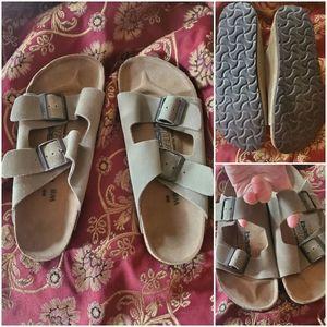 Disc. Birkenstock Newalk Leather Sandals, sz 39/8